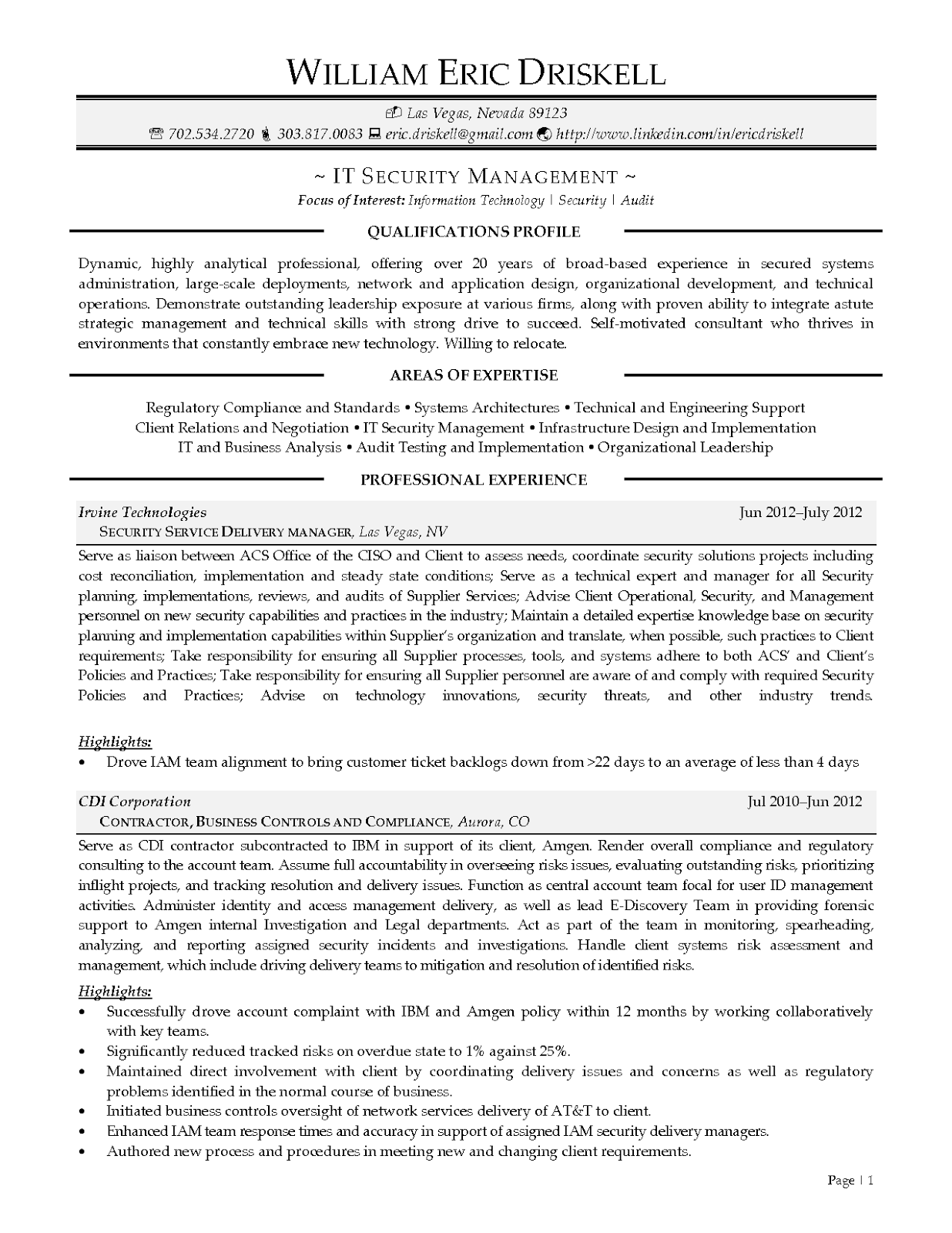 Relocation resume example