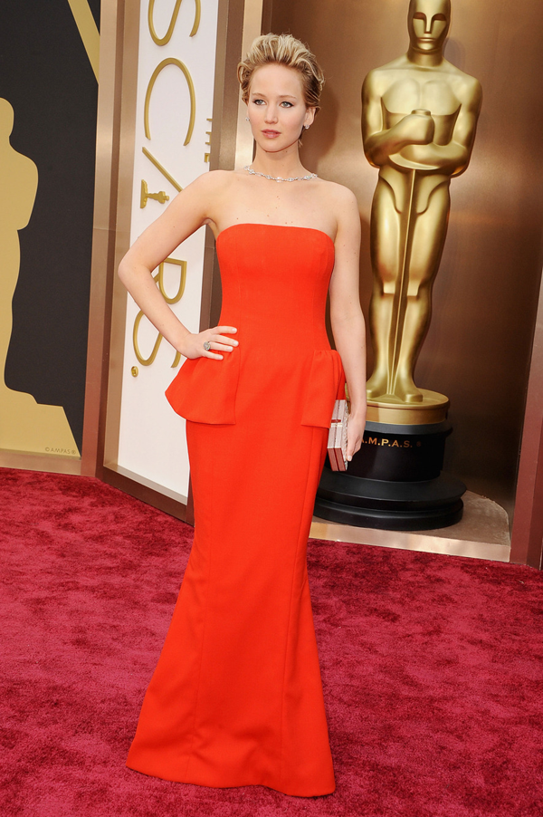 Jennifer Lawrence's Oscar 2014 Dress by: Christian Dior