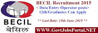 BECIL Recruitment 2015
