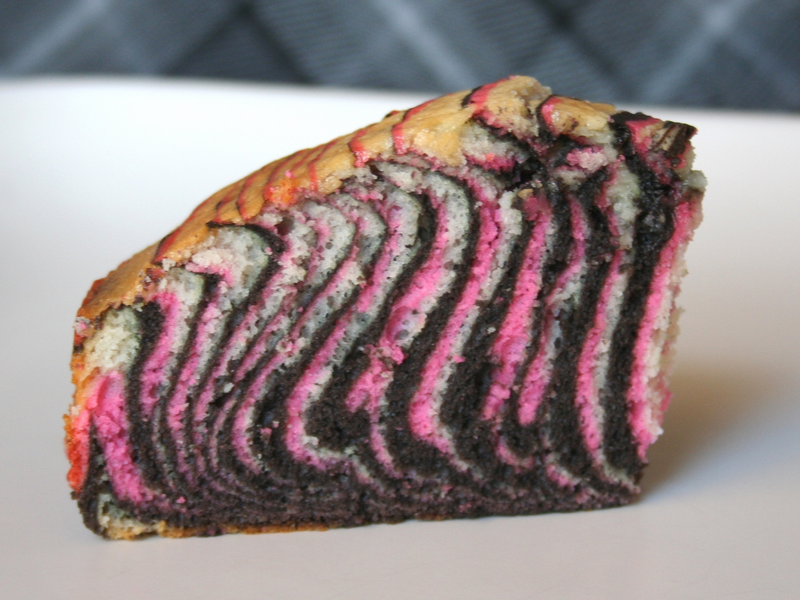 Hot Pink Zebra Stripes Cake – A to Zebra Celebrations
