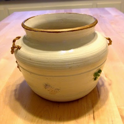 Early Porcelain Pot with Flowers by Future Relics Gallery