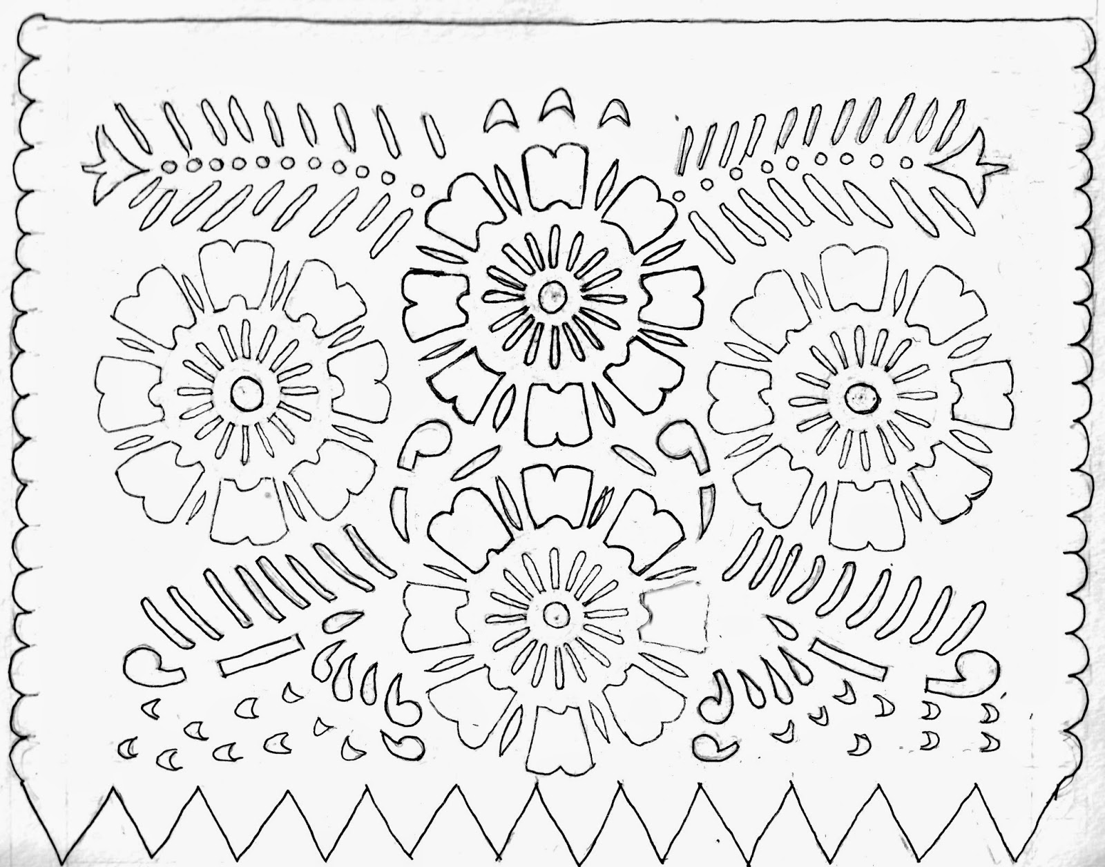 Zany image with regard to papel picado template printable