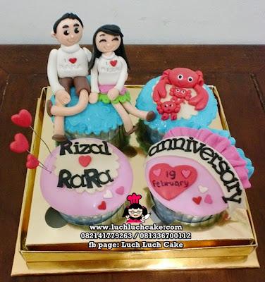 Cupcake Anniversary Kepiting Daerah Surabaya - Sidoarjo