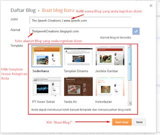 Cara Membuat Blog baru dengan Mudah