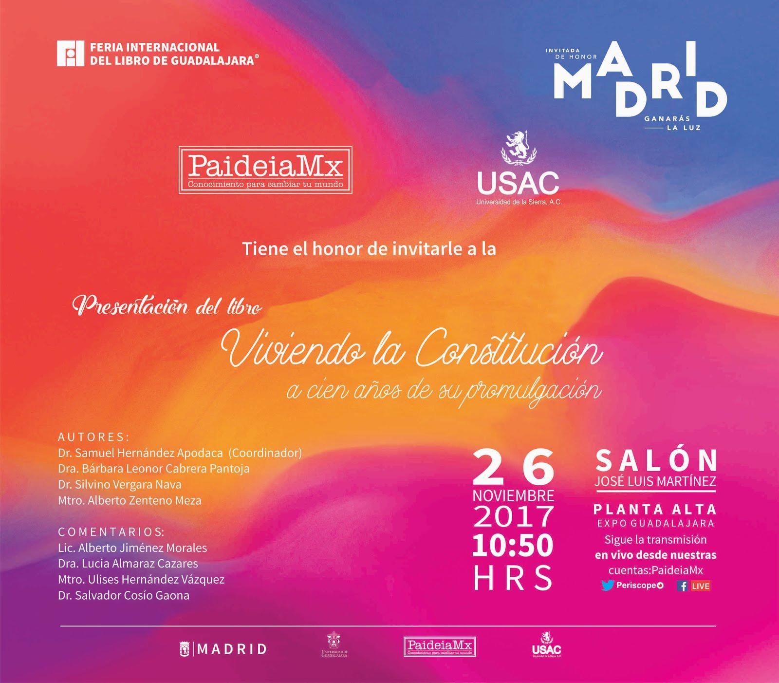 Presentación en la FIL Guadalajara