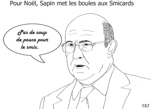 Pour-Noël-michel-Sapin-met-les-boules-aux-smicards-fej-dessin