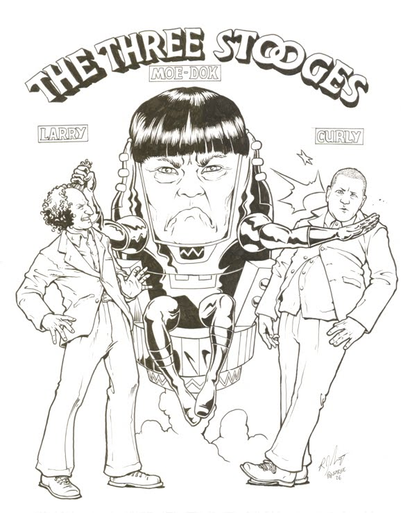 March modok madness submitted modok ryan sergeant for The three stooges coloring pages
