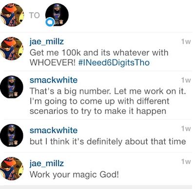 Jae Millz DM conversation with Smack battle rap 100k