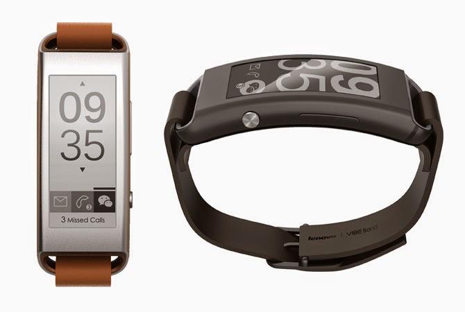 LENOVO announces Vibe Band VB10 smartband wearable with E Ink display