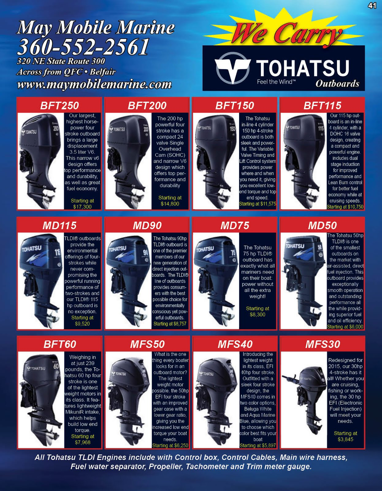 May Mobile Marine Tohatsu Outboard Motor Sale!!