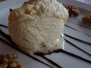 helado casero de chocolate blanca