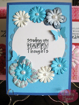 Handmade Card - Sending You Happy Thoughts
