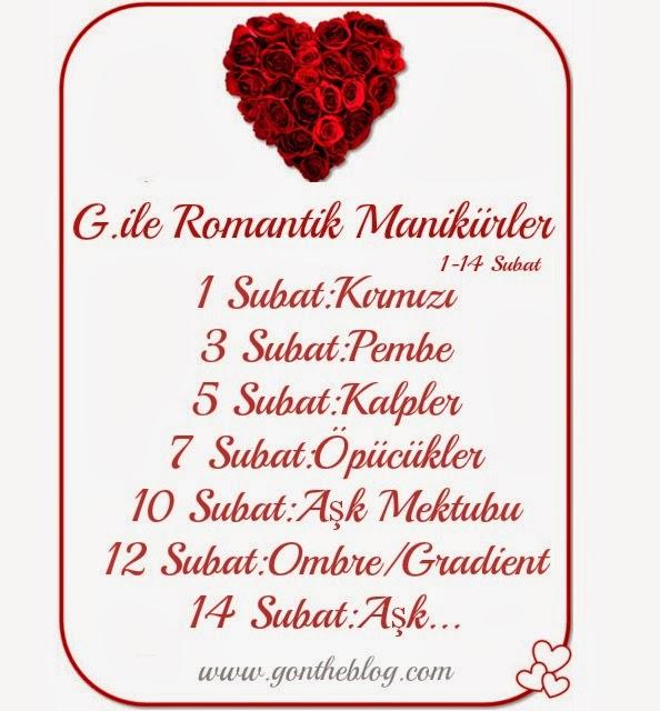 romantik manikürler