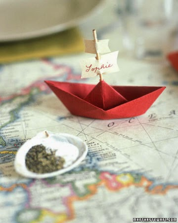 Martha Stewart sailboat place card tutorial