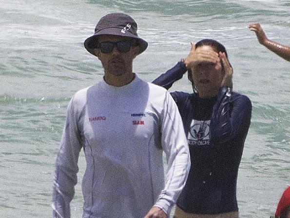 Danish Crown Prince Family On Mermaid Beach In Australia