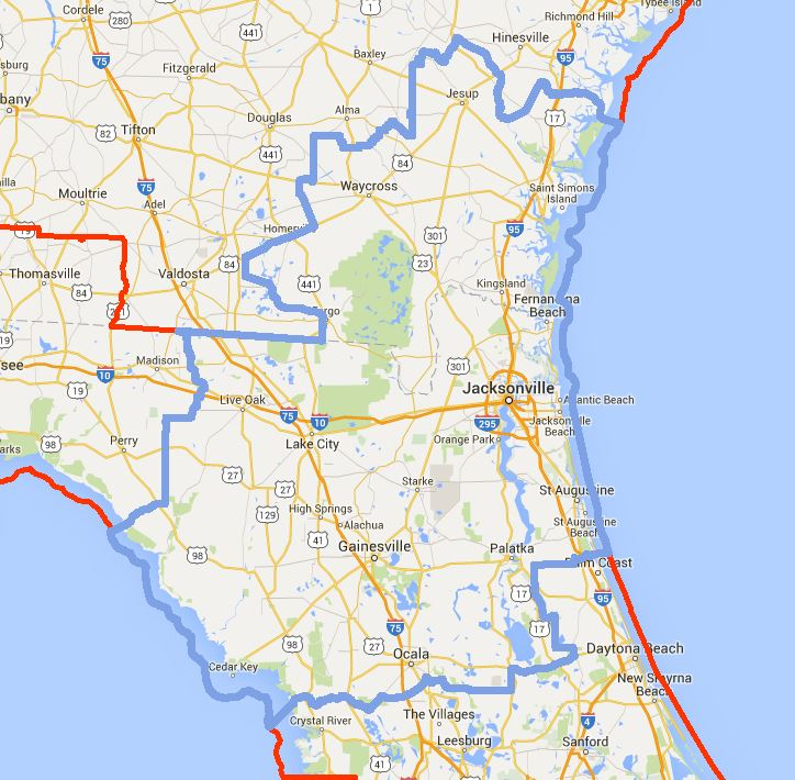 Florida Jacksonville Mission Boundaries