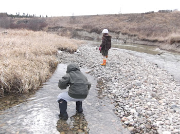 creek stomping in march