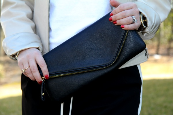 Black Leather Clutch from TJ Maxx