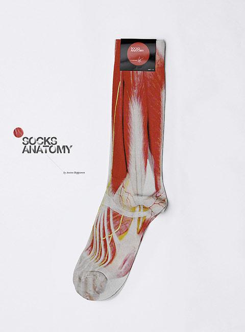 Diseño de calcetines con músculos impresos