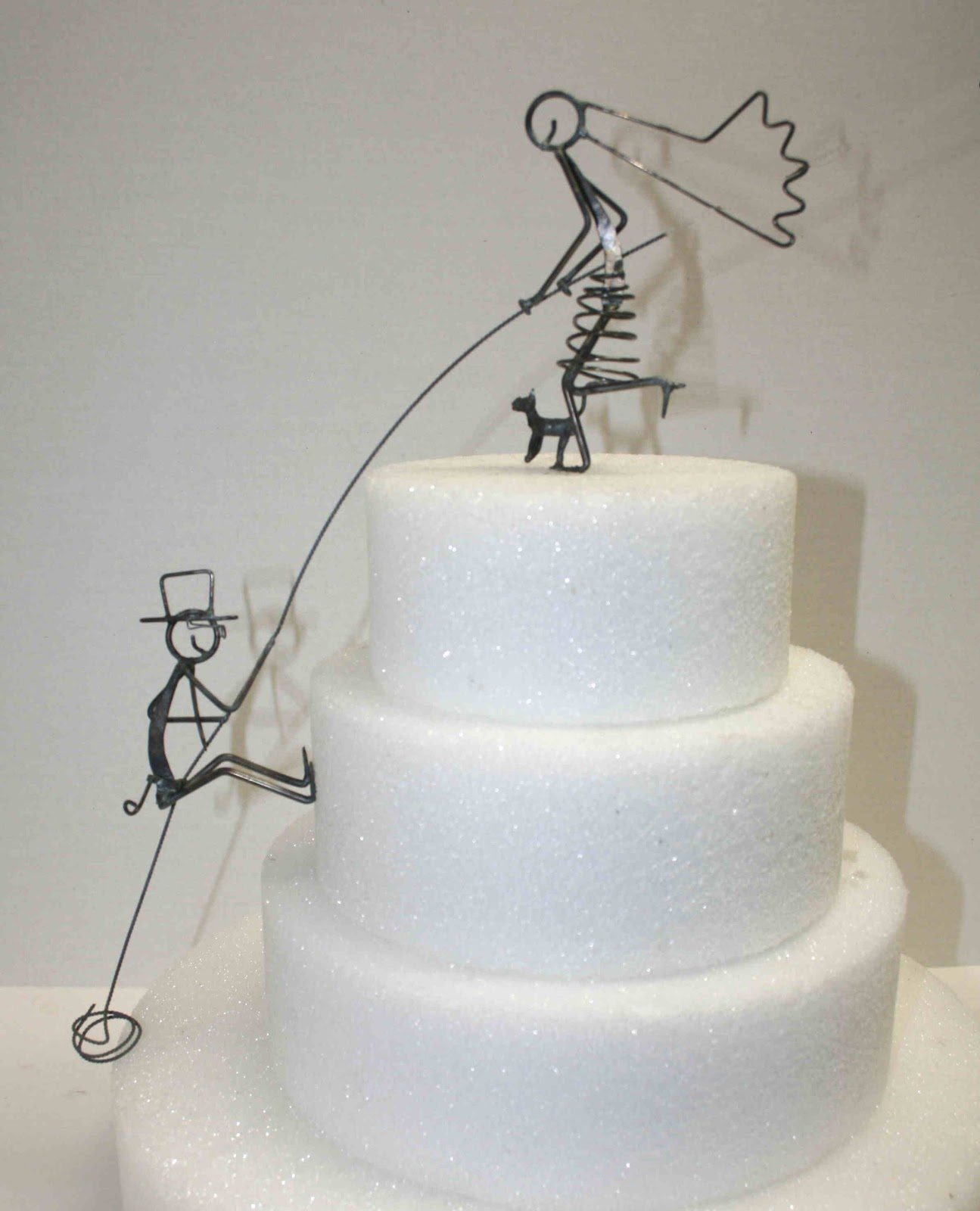 Daryl\'s Rock and Wire Works: Custom Tandem Bike Cake Toppers and More!