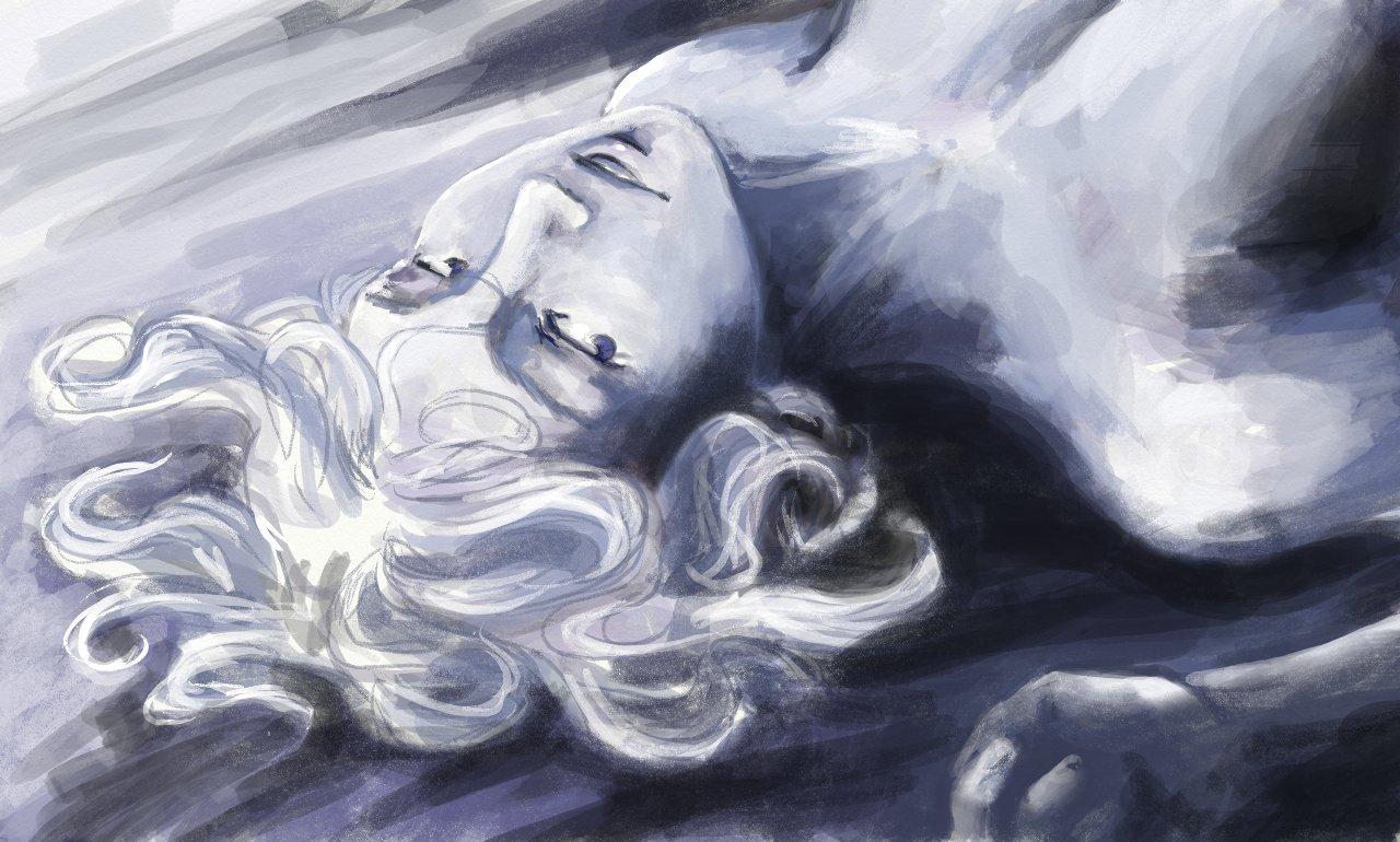 Portrait d'Ester, Blue Black