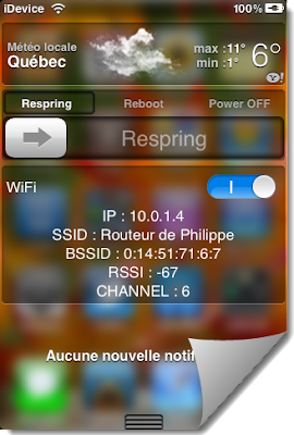 BlurriedNCBackground To Blur Notification Center Of iPhone