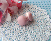 Pink Macaroon Earrings