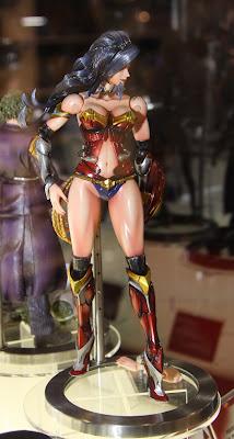 Square Enix Play Arts 2013 Toy Fair Display - DC Universe Wonder Woman figure
