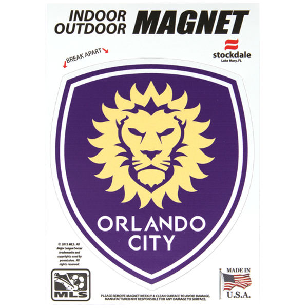 "ORLANDO CITY SOCCER CLUB Magnets  5""x 7"""