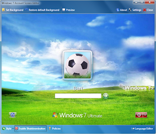 Costume Log-in screen in windows 7: Intelligent Computing