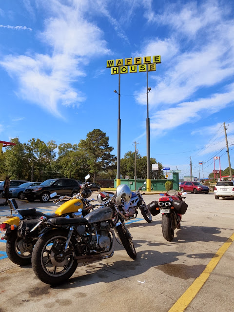 Motorcycles at Waffle House Birmingham Alabama