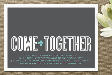 Luxberry Live a Good Life Super Lux Invites – Get Together Party Invitation Wording