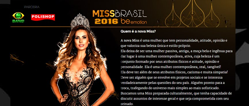 MISS UNIVERSO BRASIL 2016 - AS 27 MISSES ESTADUAIS