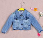 ZARA Kid's collar denim jacket