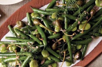 Green Bean, Broad Bean and Caper Berry Salad