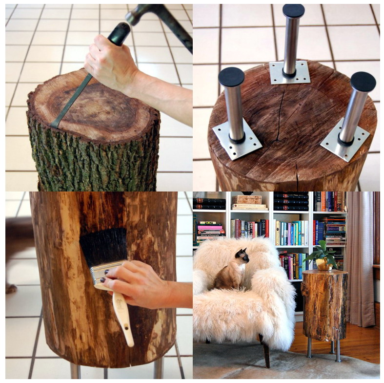 Reciclagem jardinagem e decora o for Como tratar un tronco de madera para decoracion