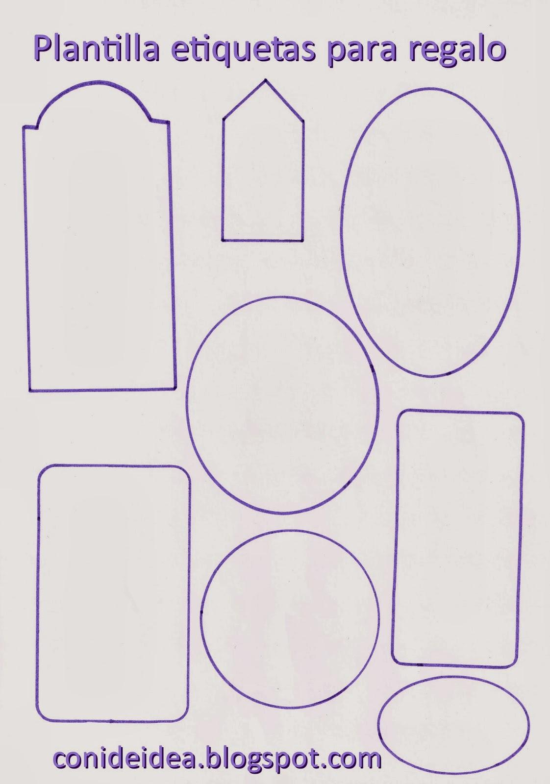 Manualidades con i de idea etiquetas para regalos - Etiquetas para regalos para imprimir ...