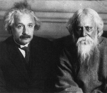 Albert Einstein y Rabindranat Tagore