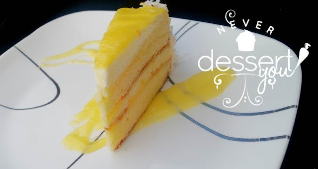 Coconut Layer Cake with Pineapple Curd Filling