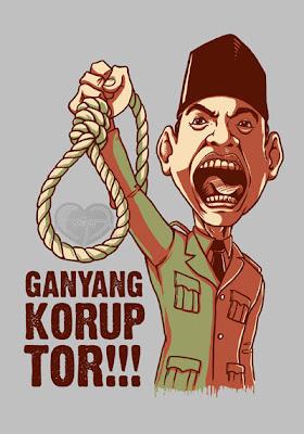 Presiden Soekarno - Karikatur Selebriti Indonesia