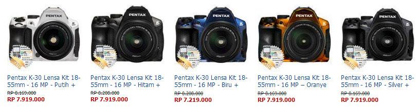 Harga Kamera Pentax K-30
