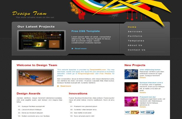 Free Web2.0 Retro Grunge Portfolio CSS HTML Website Template