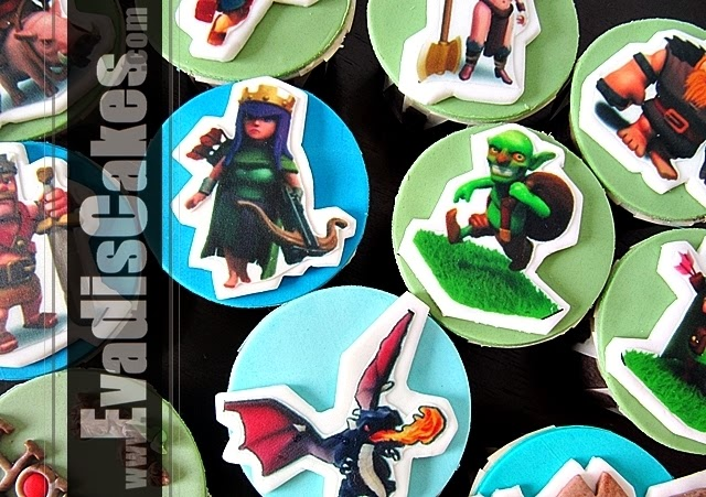 Hero characters picture of Clash Of Clan cupcakes