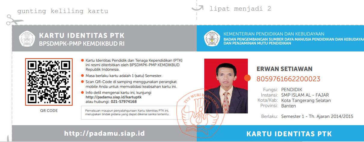 Kartu Digital NUPTK/PegID