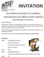 """27 février 2019 - Conférence """"Rivières à truites et ombres, connaissance du milieu et espèces"""""""""""