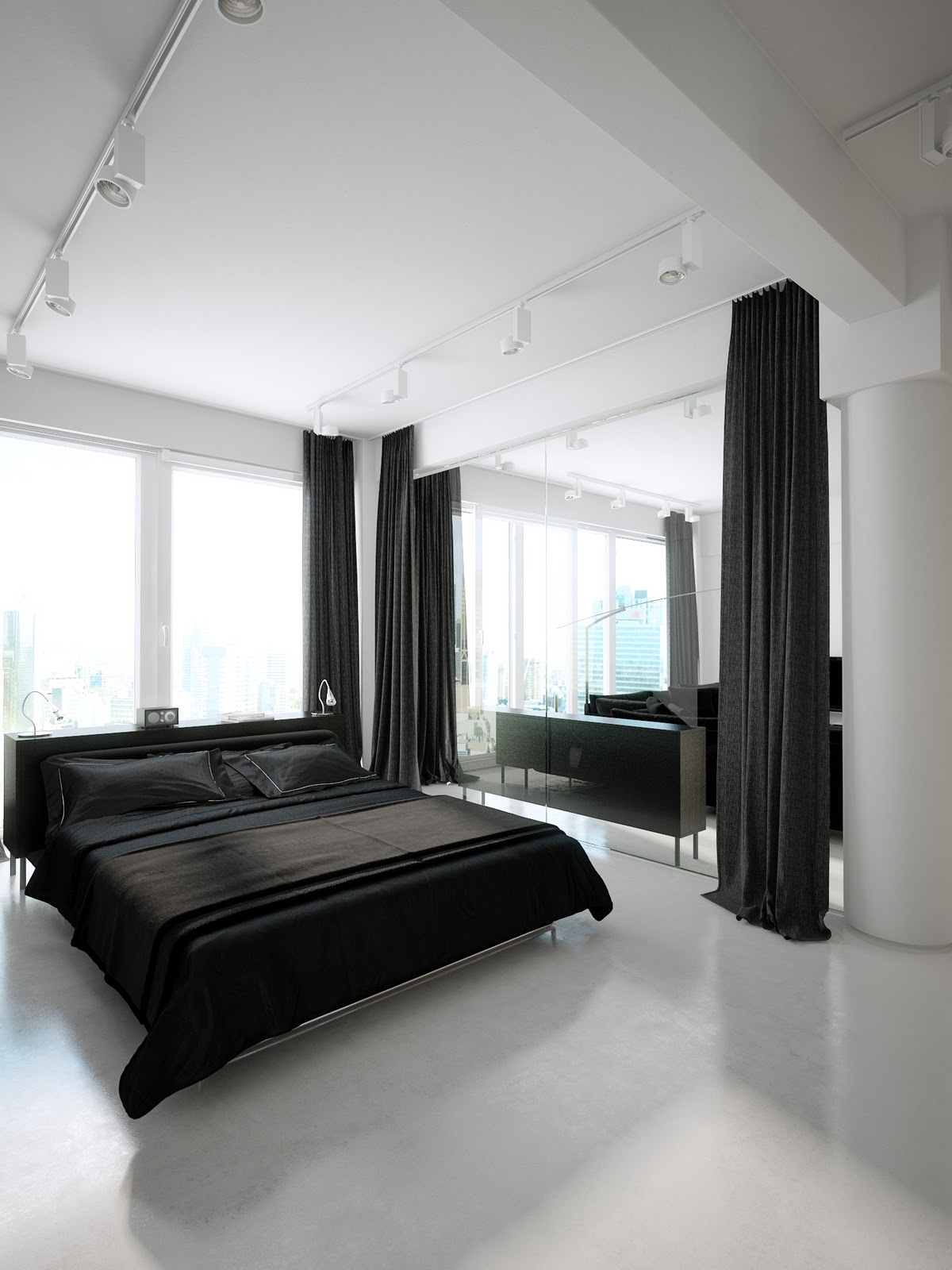 Room decor ideas a luxury version of black white minimalism trend - Having Black And White Dining Room Is Also Possible You Only Need To Place Black Dining Table Whit The Chair In White Wall Roof And Floor