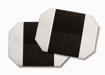 Hướng dẫn cách gấp bánh gạo bằng giấy đơn giản - Xếp hình Origami với Video clip - How to make a rice ball