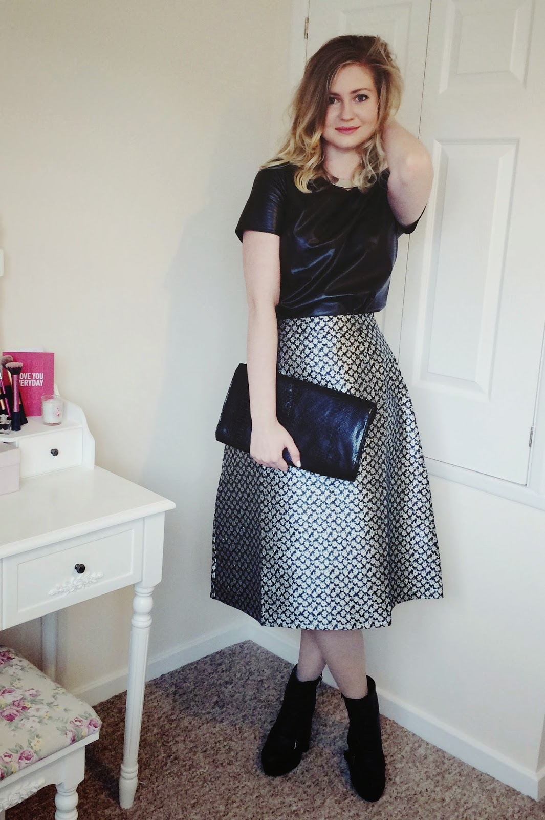 FashionFake, UK fashion blog, fashion bloggers, Poppy Lux skirt