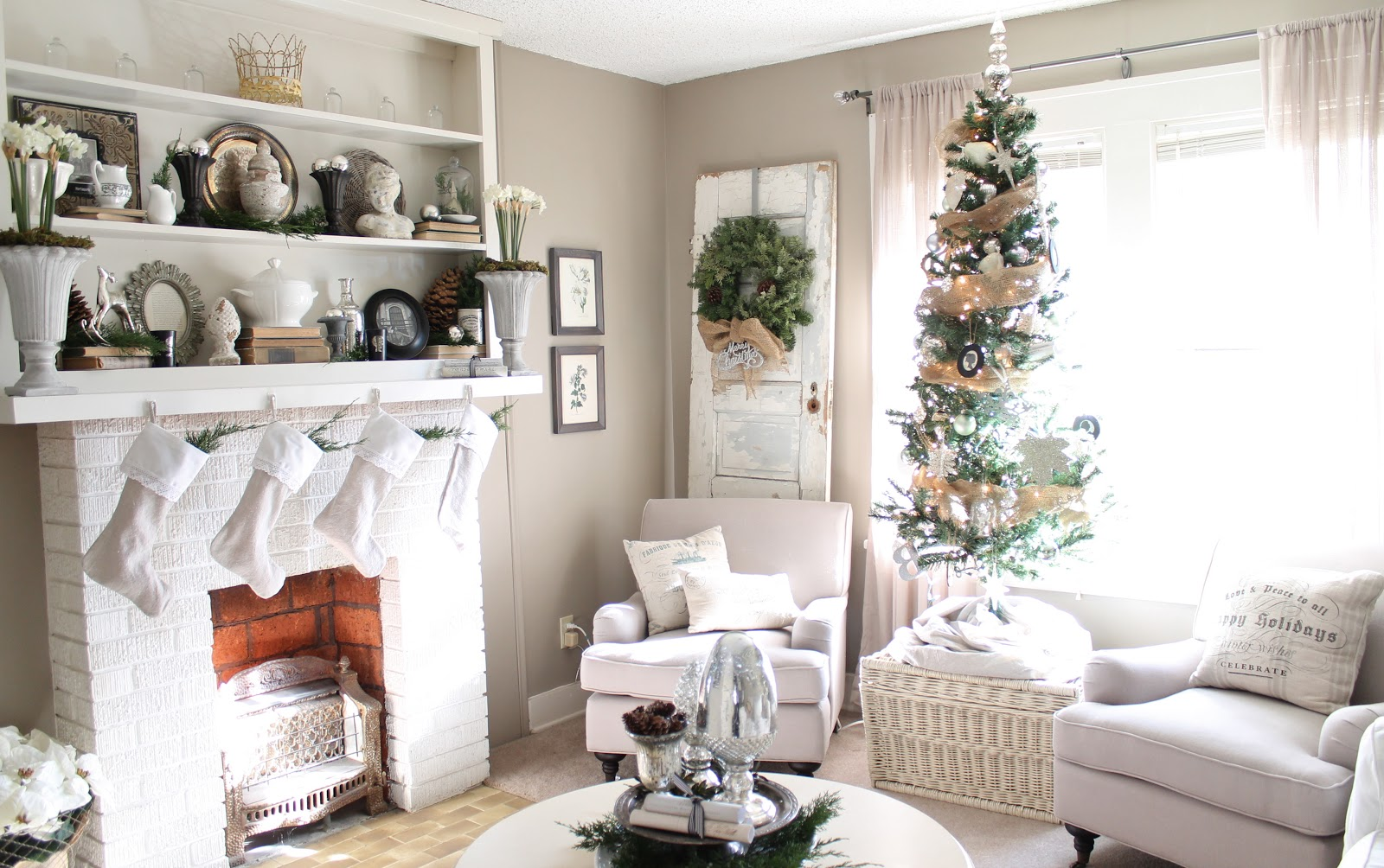 12th and white our christmas living room part 1 for Lounge decor inspiration