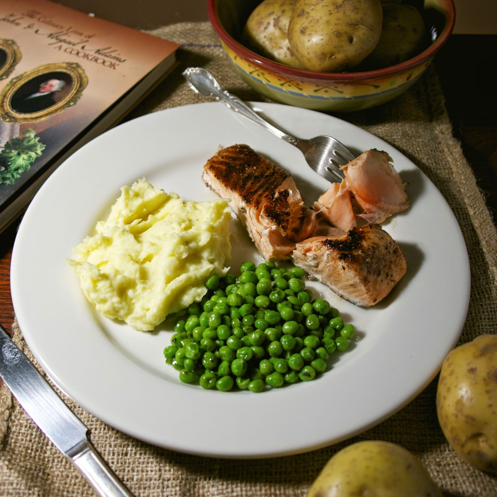 Roasted Salmon- New England Style- simplelivingeating.com